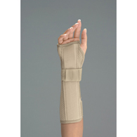 "FLA Orthopedics 10"" Perforated Suede Wrist/Forearm Splint-Left"